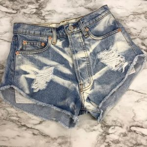 The Laundry Room Distressed Denim Jean Shorts 25